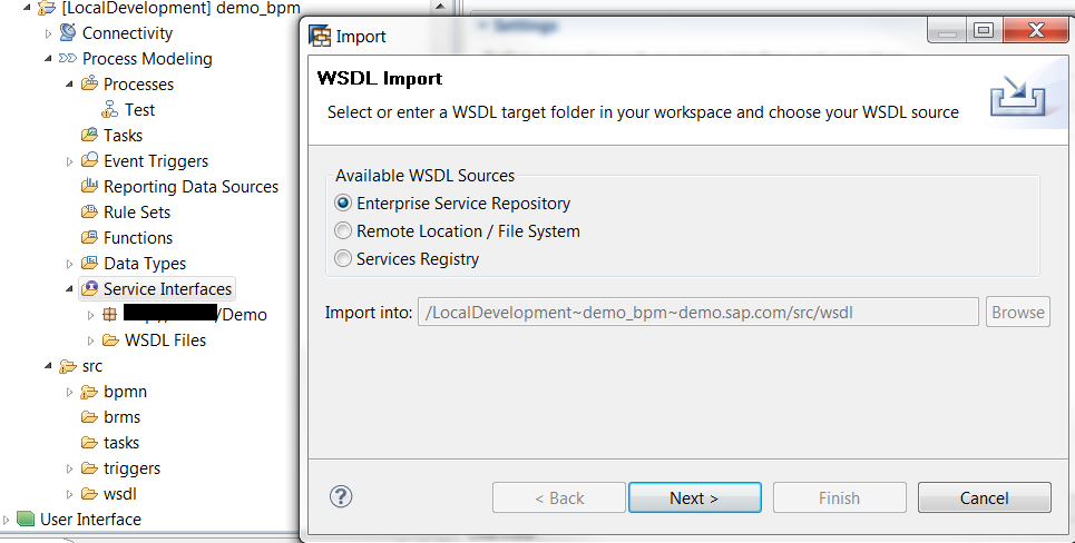 WSDL import