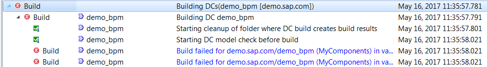 sap bpm build doesn't work